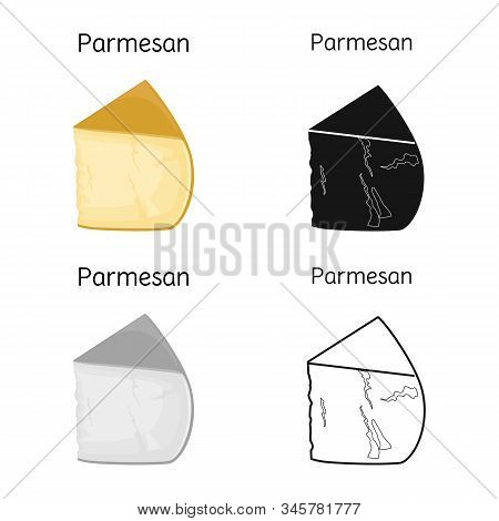 Vector Design Of Cheese And Parmesan Symbol. Graphic Of Cheese And Appetizer Stock Vector Illustrati