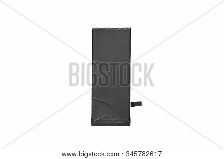 Isolated Lithium-ion Mobile Phone Battery On White Background With Clipping Path