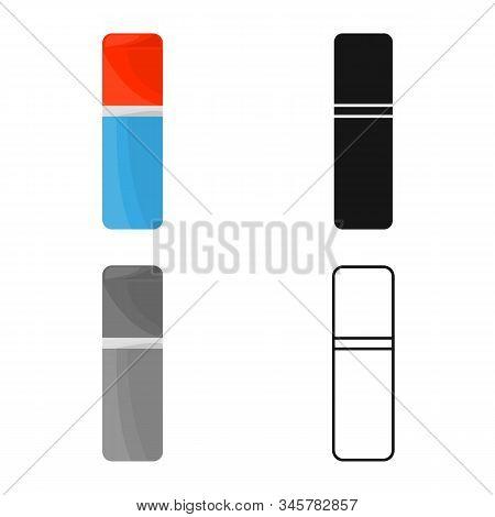 Vector Illustration Of Eraser And Rubber Logo. Web Element Of Eraser And Erase Vector Icon For Stock