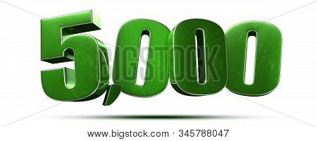 3d Illustration 5000 Isolated On A White Background.(with Clipping Path).