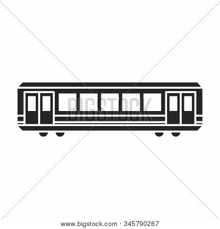 Train Of Metro Vector Icon.black Vector Icon Isolated On White Background Train Of Metro .