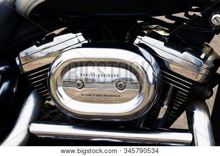 Minsk, Bealrus - May 24, 2019: Harley-davidson Motor Company. Exhibition Of Motorcycles. The Harley-