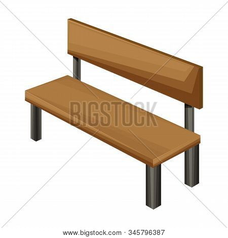 Park Bench Vector Icon.cartoon Vector Icon Isolated On White Background Park Bench.