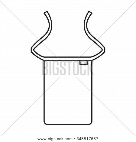 Apron Vector Icon.line Vector Icon Isolated On White Background Apron.