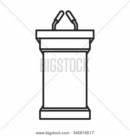 Tribune Vector Icon.line Vector Icon Isolated On White Background Tribune .