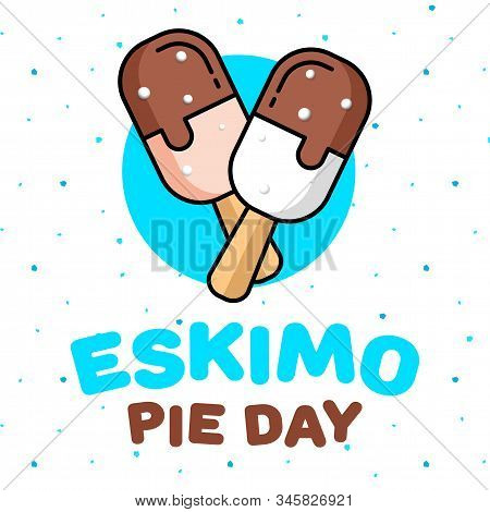 January 24 Is A Sweet Holiday, International Eskimo Pie Day. Square Banner, Flyer, Card. Vector
