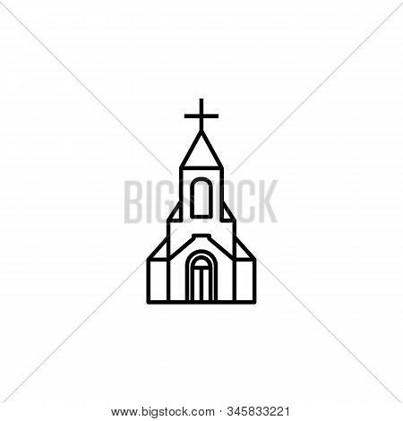 Church, Cathedral Line Icon. Elements Of Wedding Illustration Icons. Signs, Symbols Can Be Used For