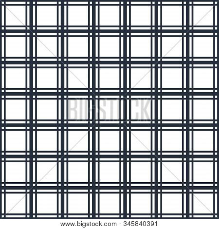 Seamless Crossed Lines Geometric Pattern, Abstract Minimal Vector Background With Cross Stripes, Lin