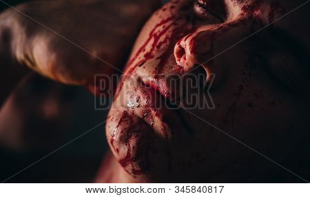 Body Soiled Blood. Prison For Monster. Psycho Mad Man. Psychic Disease. Murderer Brutal Aggressive G