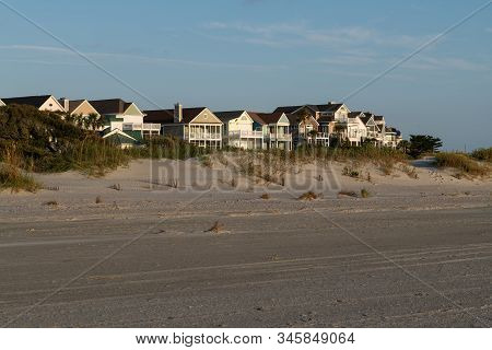 Wild Dunes Resort, South Carolina, Usa - September 28, 2019.  Luxury Ocean View Luxury Houses At Wil