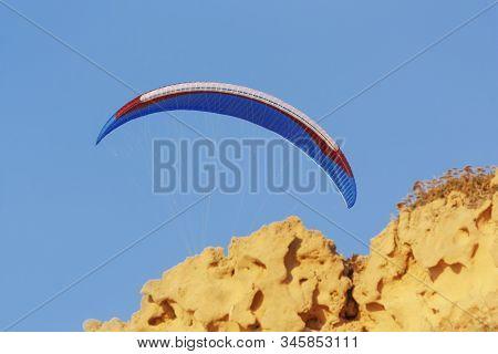 Paraglider Blue Sky Image & Photo (Free Trial)   Bigstock