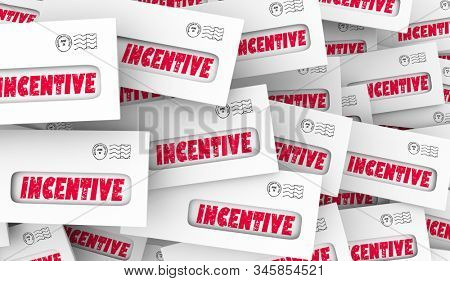 Incentive Bonus Payments Envelopes Money Premium 3d Illustration