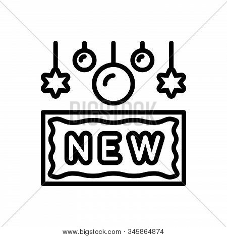 Black Line Icon For New Recent Latest Brand-new