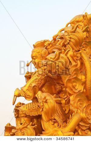 chinesische sage die God Statue