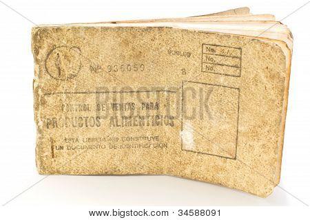 Cuban rationing card, libreta de la bodega