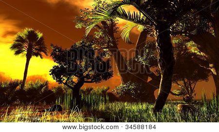 Wetland - swamp poster