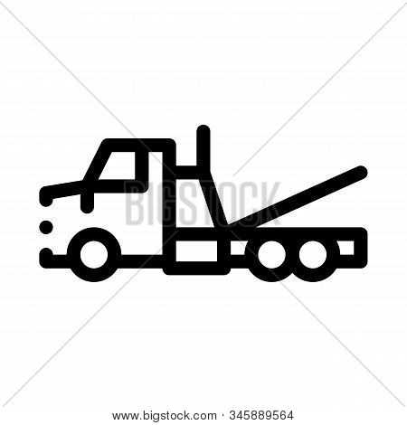Tow Trick Service Icon Vector. Outline Tow Trick Service Sign. Isolated Contour Symbol Illustration