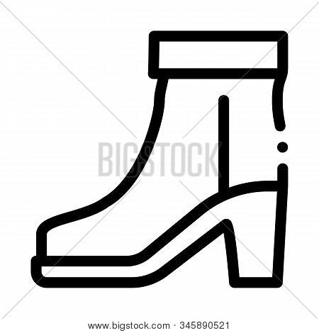 Boot Shoe Icon Vector. Outline Boot Shoe Sign. Isolated Contour Symbol Illustration
