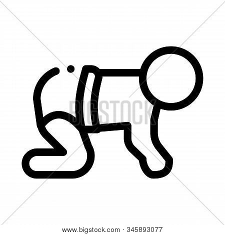 Baby Creeping Icon Vector. Outline Baby Creeping Sign. Isolated Contour Symbol Illustration
