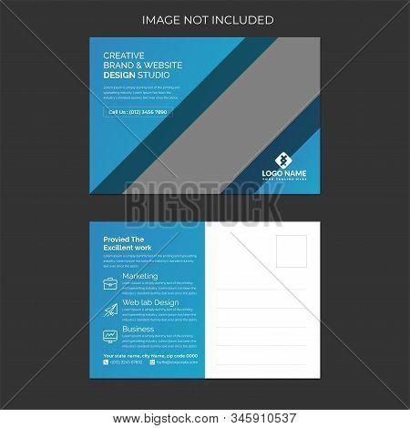 Postcard. Postal card illustration for your design. Travel card design. Vintage Postcard. Old paper texture. Vector illustration.