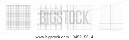 Grid Templates, Isolated On White Background. Set Of Grid Pattern Background. Graph Paper. Square Ba