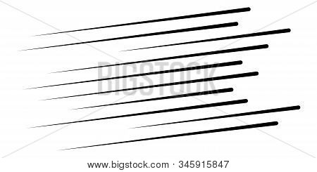 Speed Lines. Dynamic Lines In Perspective. Effect Straight Burst In Diagonal. Ray  Burst. Rays In Mo