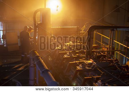 Belarus, The City Of Gomil On October 2, 2019. Glassworks. Industrial Furnace For The Manufacture Of