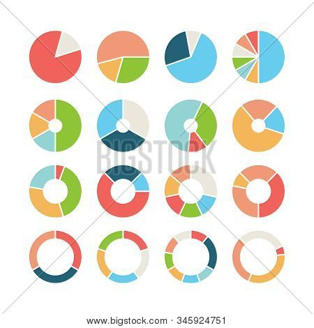 Circle Section. Round Chart Wheel Circular Hub With Different Section Donut Pie Business Infographic