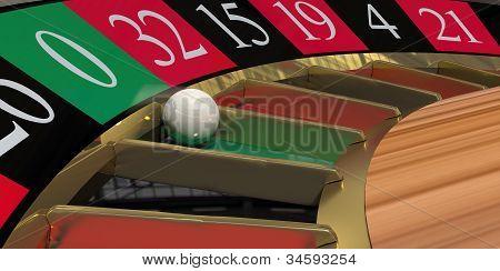 Roulette Wheel Close-up