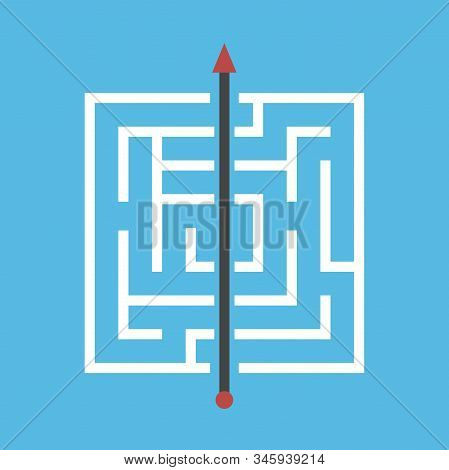 Square Maze, Shortcut Through Walls. Simple Efficient Solution Of Dfficult Problem, Breakthrough, Ob