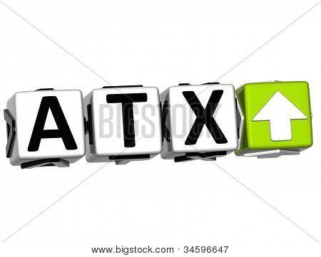 3D Atx Button Click Here Block Text
