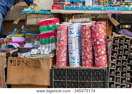 Kutaisi, Georgia, October 13, 2019 : A Consumer Goods Counter Is On The Market In The Old Part Of Ku