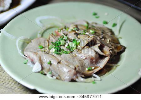 Grilled Beef Or Stir-fried Pork Or Stir-fried Beef With Sesamejapanese Food