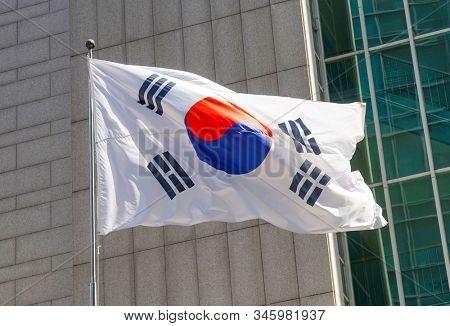 National flag Republic of Korea.