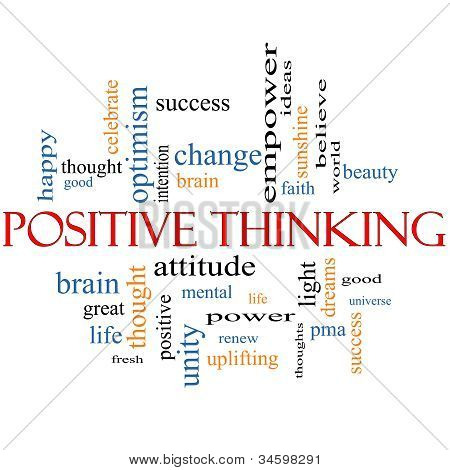 Positive Thinking Word Cloud Concept