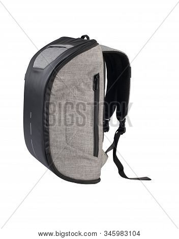 Modern Style Fashion Canvas Backpack Isolated On White Background