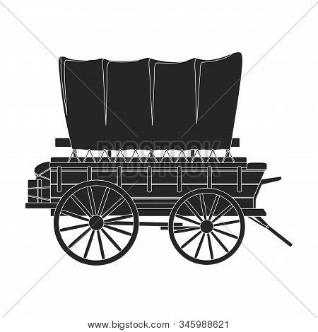 Western Carriage Vector Icon.black Vector Icon Isolated On White Background Western Carriage.