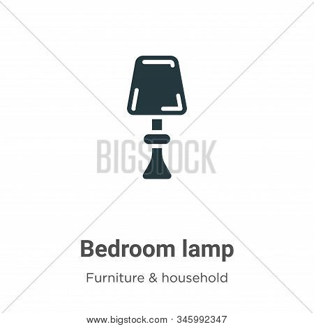 Bedroom Lamp Vector Icon On White Background. Flat Vector Bedroom Lamp Icon Symbol Sign From Modern