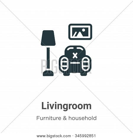 Livingroom icon isolated on white background from furniture and household collection. Livingroom ico