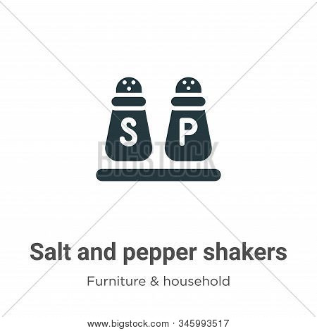 Salt and pepper shakers icon isolated on white background from furniture and household collection. S