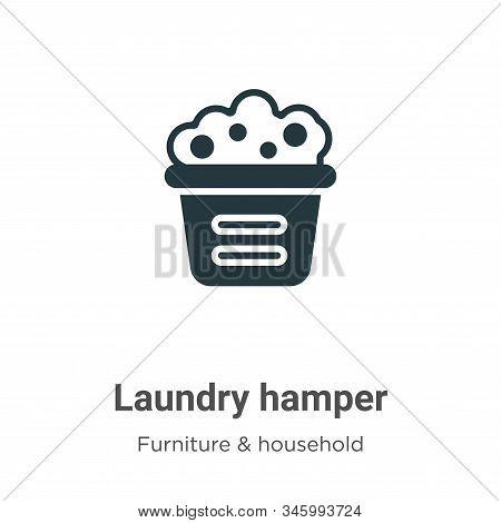 Laundry hamper icon isolated on white background from furniture and household collection. Laundry ha