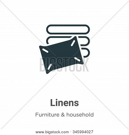 Linens icon isolated on white background from furniture and household collection. Linens icon trendy