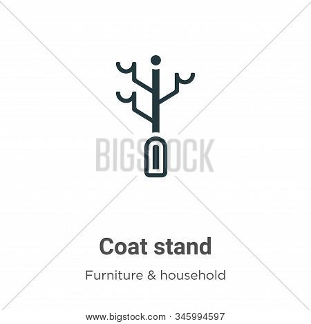 Coat stand icon isolated on white background from furniture collection. Coat stand icon trendy and m