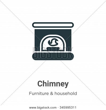 Chimney icon isolated on white background from furniture collection. Chimney icon trendy and modern
