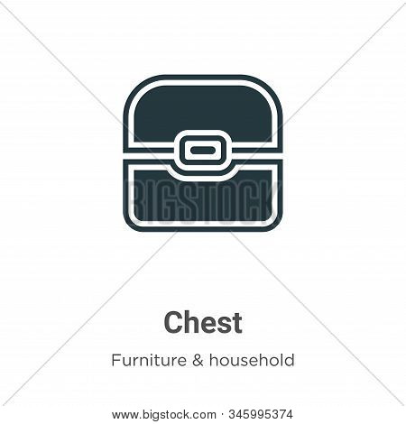 Chest icon isolated on white background from furniture collection. Chest icon trendy and modern Ches