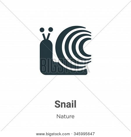 Snail Vector Icon On White Background. Flat Vector Snail Icon Symbol Sign From Modern Nature Collect
