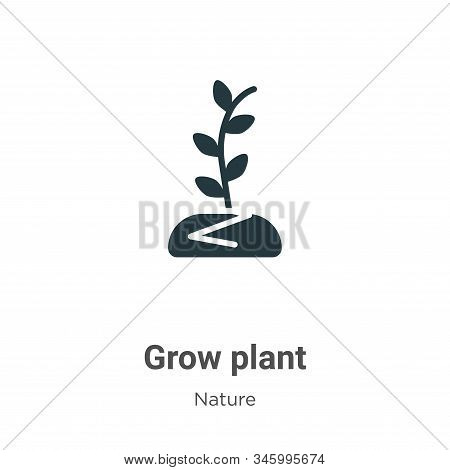 Grow plant icon isolated on white background from nature collection. Grow plant icon trendy and mode
