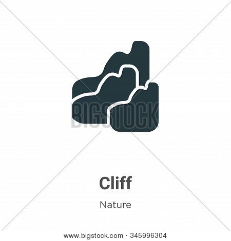 Cliff icon isolated on white background from nature collection. Cliff icon trendy and modern Cliff s