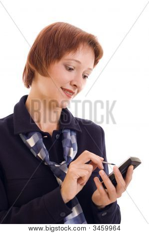 The Businesswoman With A Mobile Phone