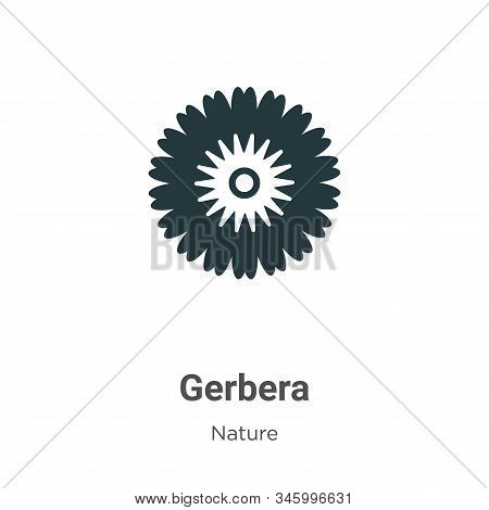 Gerbera Vector Icon On White Background. Flat Vector Gerbera Icon Symbol Sign From Modern Nature Col